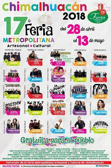 Feria metropolitana chimalhuacán 2018
