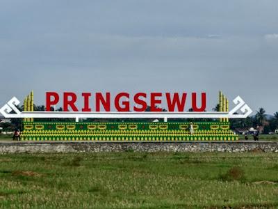 Tulisan Pringsewu Salah Satu Ikon Kota Kabupaten Pringsewu