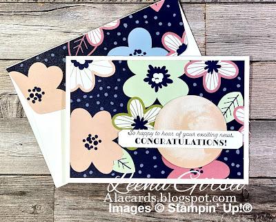 Paper blooms Designer paper stampin' up
