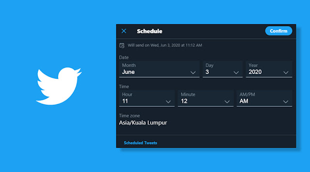 Twitter Memperkenalkan Schedule Tweet Melalui Twitter Wep