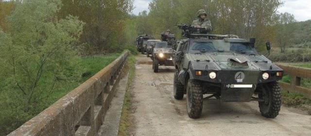 Τεθωρακισμένα οχήματα του Ελληνικού Στρατού αναπτύσσονται αυτή την στιγμή  στον Έβρο