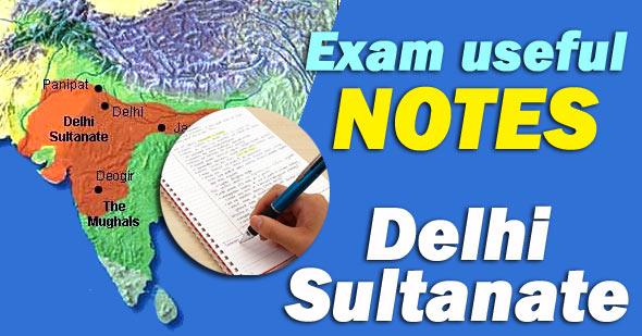 delhi sultanate notes in english