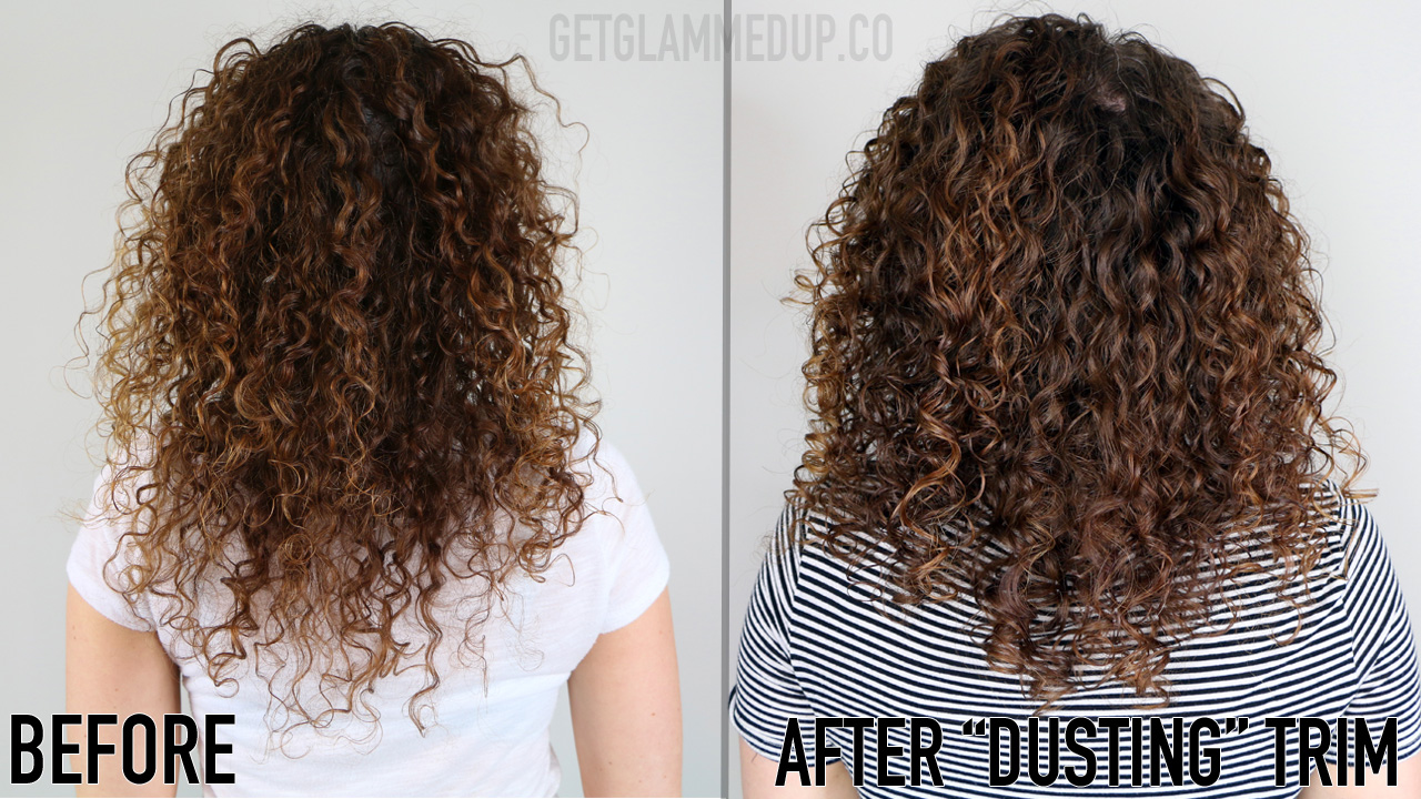 Before & after curly haircut