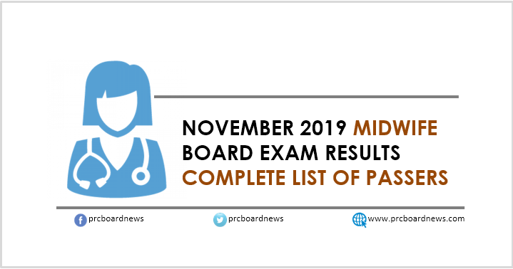 RESULT: November 2019 Midwife board exam list of passers