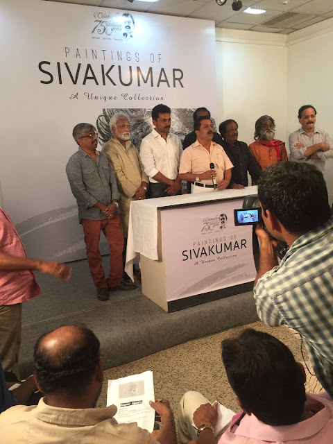 Paintings of SivaKumar Event Inaugurated by Karthi Photos