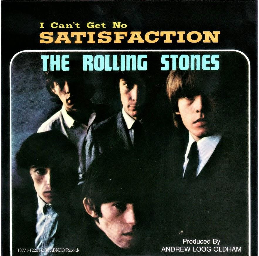 """Capa do single """"(I Can't Get No) Satisfaction"""", lançado em 1965 pelos Rolling Stones"""