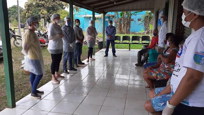 Alta Floresta: Rolim de Moura do Guaporé recebe equipe técnica da saúde para reforço na prevenção à COVID-19