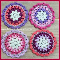 MINI MANDALAS A CROCHET