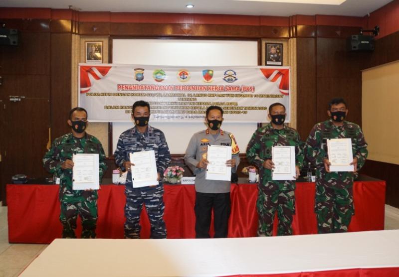 Danlantamal IV Tandatangani PKS Perbantuan TNI Kepada Polri
