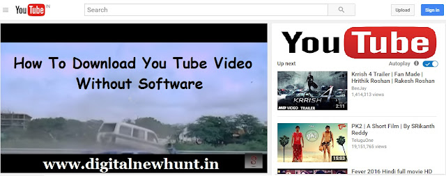 How to download you tube video without software