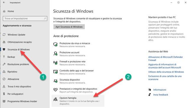 sicurezza windows