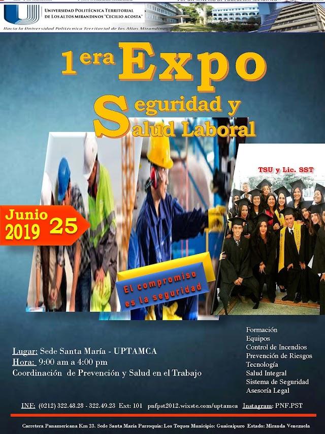 Afiche I Expo Seguridad Laboral