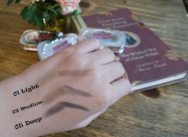 a swatch photo of Benefit Foolproof Brow Powder
