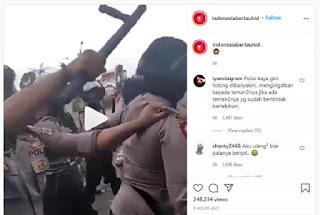 Kepala Polisi Dipukul Atasan Karena Piting Pedemo, Netizen Heboh
