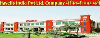 10th,12th, ITI pass  300 Candidates Job Vacancy In Havells Pvt. Ltd Nimrana, Ghilot, Rajasthan AC Manufacturing Company