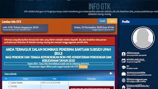 halaman log in info GTK