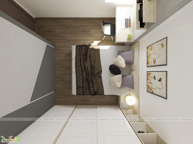 Thiết kế và thi công căn hộ chung cư Compass One - Tp. Thủ Dầu Một, Bình Dương - Phòng ngủ