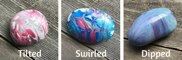 marbleized painted rocks types #creativegreenliving