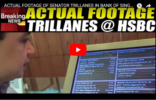 ACTUAL F00TAGE kay SENATOR TRILLANES nasa BANK ng SINGAPORE! PANOORIN