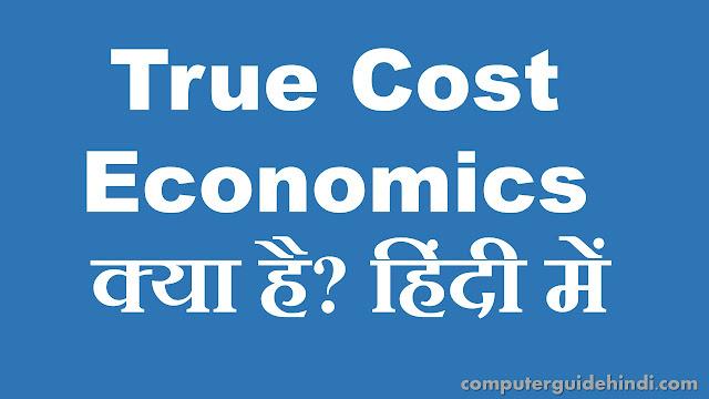 True Cost Economics क्या है?