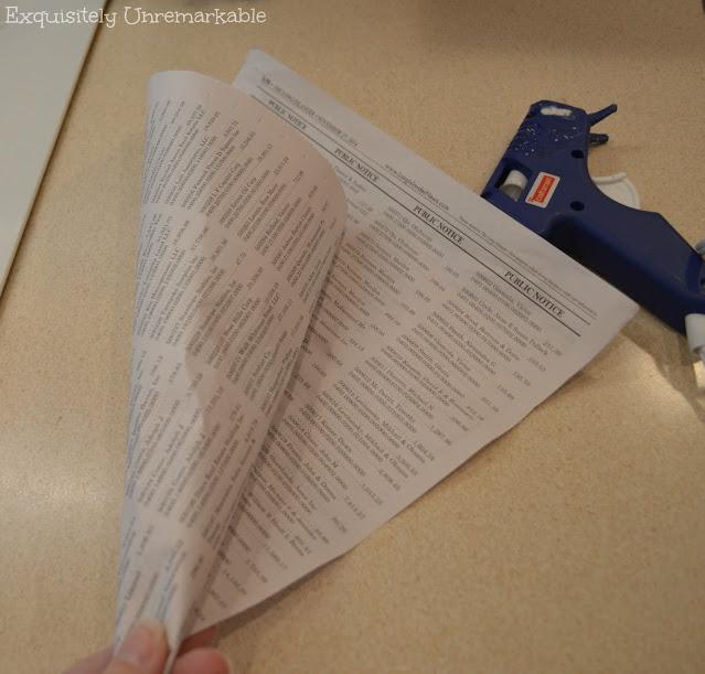 Newspaper cone