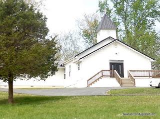 white wooden church in Kentucky