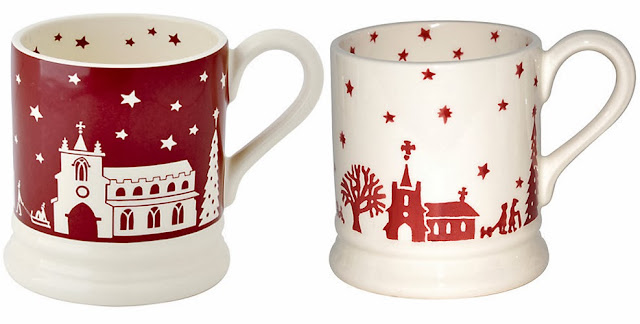 Emma Bridgewater red and white Christmas mugs