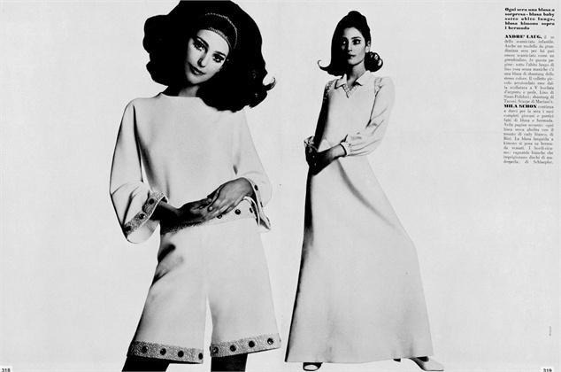 Benedetta Barzini - Photo by Jean Jacques Bugat 1969 Vogue Italia,  March 1969