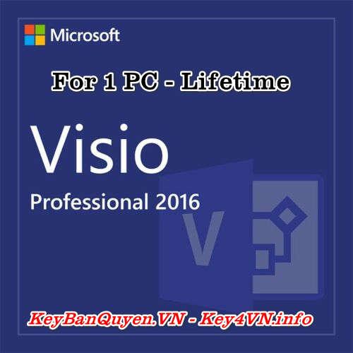 Mua bán key bản quyền Visio Professional 2016 Full 32 và 64 Bit .