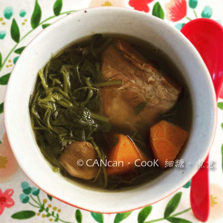 CANcan.CooK 細糖.煮意 : 西洋菜羅漢果陳腎湯 Chinese Watercress Soup