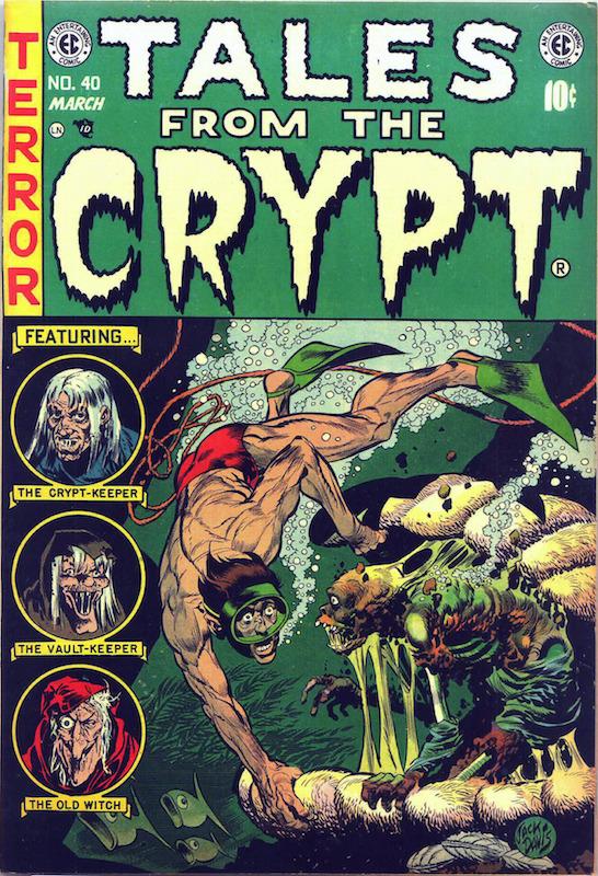 Tales from the Crypt #40:  Al Feldstein writer  Bernie Krigstein inker, penciler  Bill Gaines editor  George Evans inker, penciler  Graham Ingels inker, penciler  Jack Davis cover, inker, penciler.