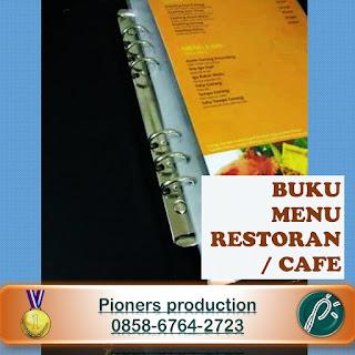Cetak Buku Menu Restoran / Cafe 0858-6764-2723 daftar menu Resto
