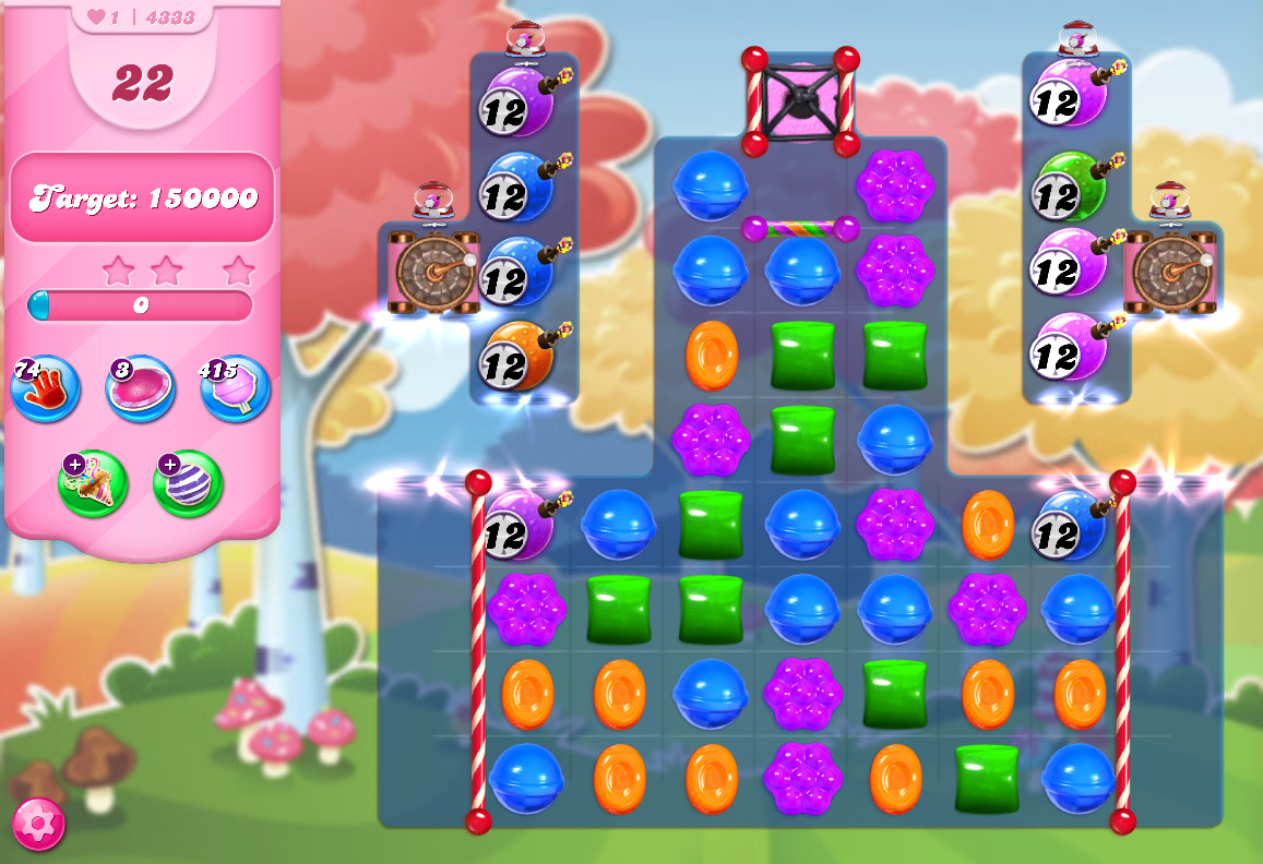 Candy Crush Saga level 4333
