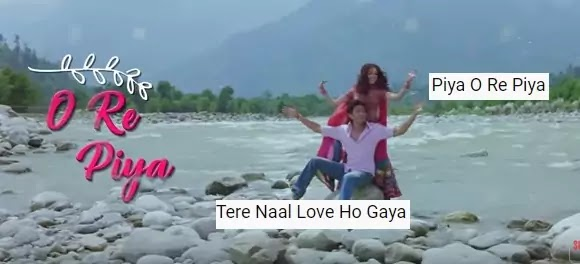 पिया रे पिया रे पिया/ पिया ओ रे पिया Piya o re piya  lyrics in hindi -Atil Aslam/Shreya Ghoshal
