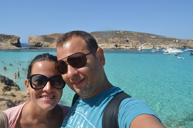 Priscila e Christian Gutierrez na Blue Lagoon