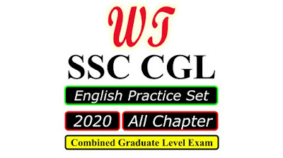 English Practice Set for SSC CGL 2020 Free PDF Download