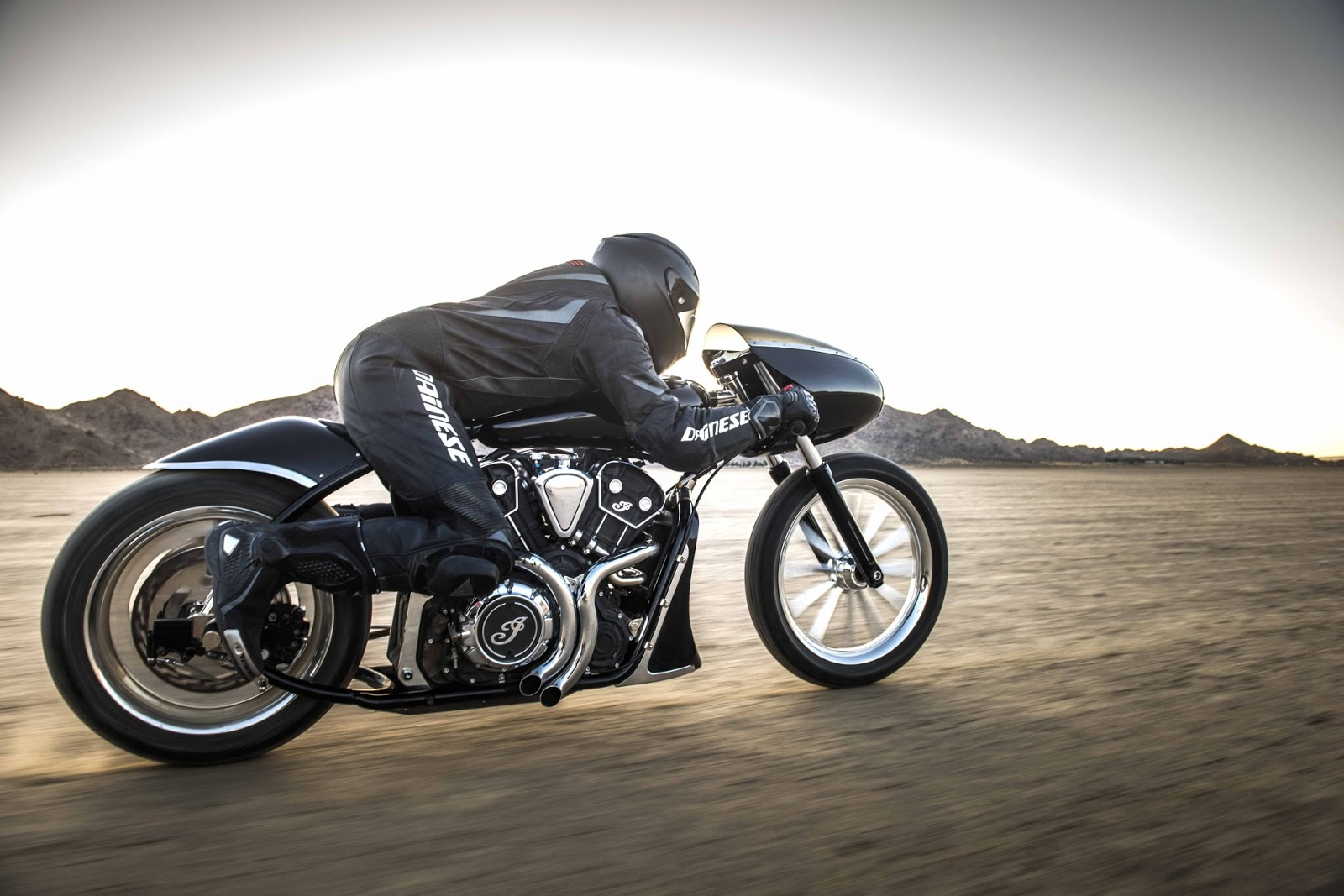 indian motorcycles return to bonneville - rocketgarage - cafe