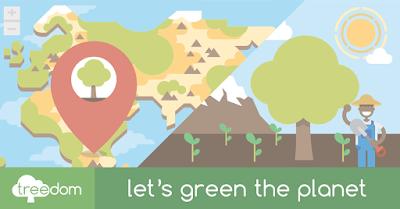 Foto del sito web Treedom, che ti permette di piantare un albero da qualsiasi parte del mondo