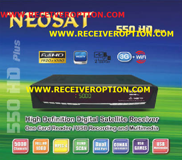 NEOSAT 550 HD PLUS RECEIVER AUTO ROLL POWERVU KEY NEW SOFTWARE