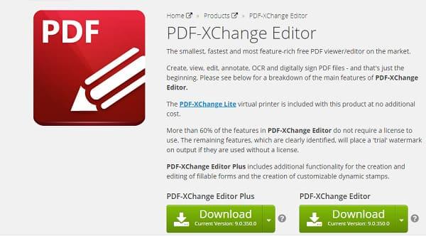 برنامج PDF-XChange Editor