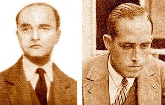 Los ajedrecistas Manuel Sererols y Àngel Ribera