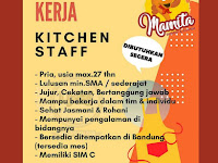 lowongan kerja staff kitchen di bandung