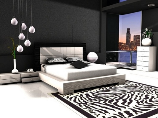black and white themed living room dormitorios negros black bedroom fotos de dormitorios 25961