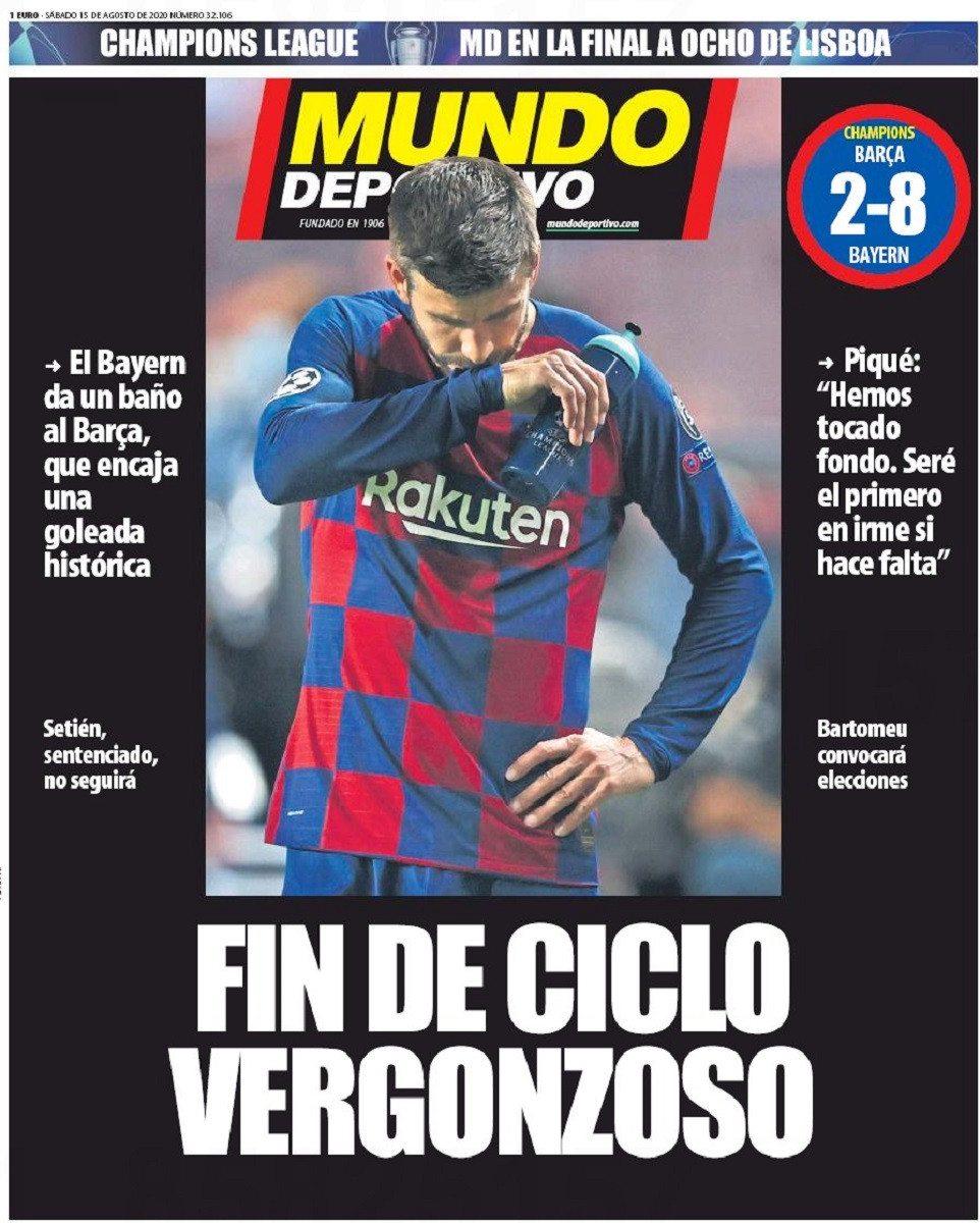 """صحيفة """" موندو ديبورتيفو """" الإسبانية"""