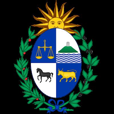 Coat of arms - Flags - Emblem - Logo Gambar Lambang, Simbol, Bendera Negara Uruguay