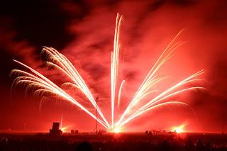 Fireworks sponsored by Larkfleet Homes