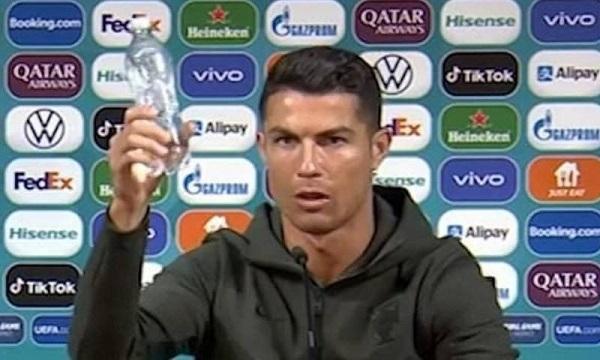 Cristiano Ronaldo's Removes Coca Cola Bottles During Press Conference