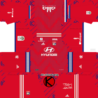Olympique Lyonnais 2019/2020 Kit - Dream League Soccer Kits