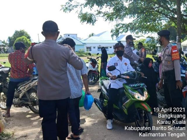 Gelar Pendisiplinan Prokes, Satgas Yustisi Karau Kuala Imbau Masyarakat Selalu Patuhi 5M