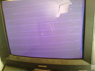 layar tv blanking